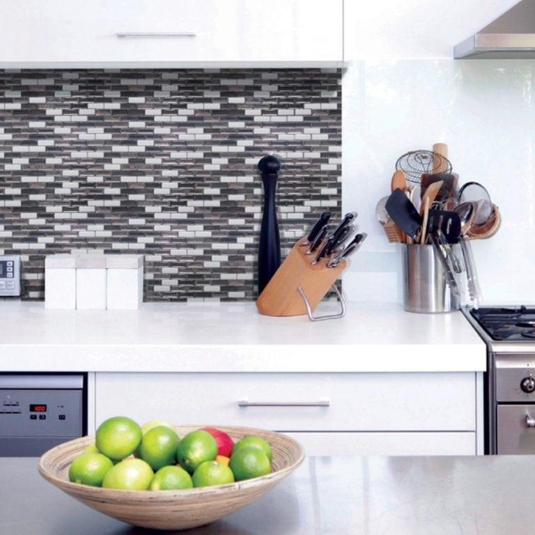 Murano Metallik Smart Tiles Peel & Stick Backsplash