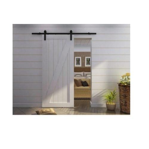 Rustic Sliding Barn Door Set For Suspended Wooden Door
