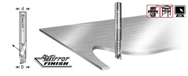 Amana Tool 51451 Solid Carbide CNC Spiral O Single Flute Aluminum Cutting 9//32 Dia x