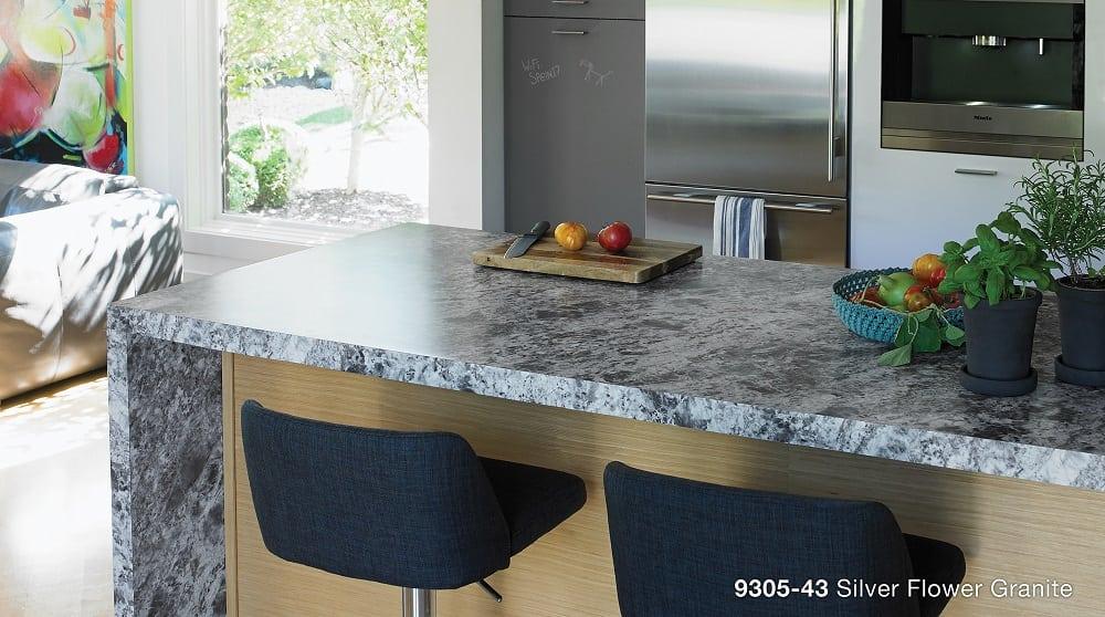 Silver Flower Granite Laminate