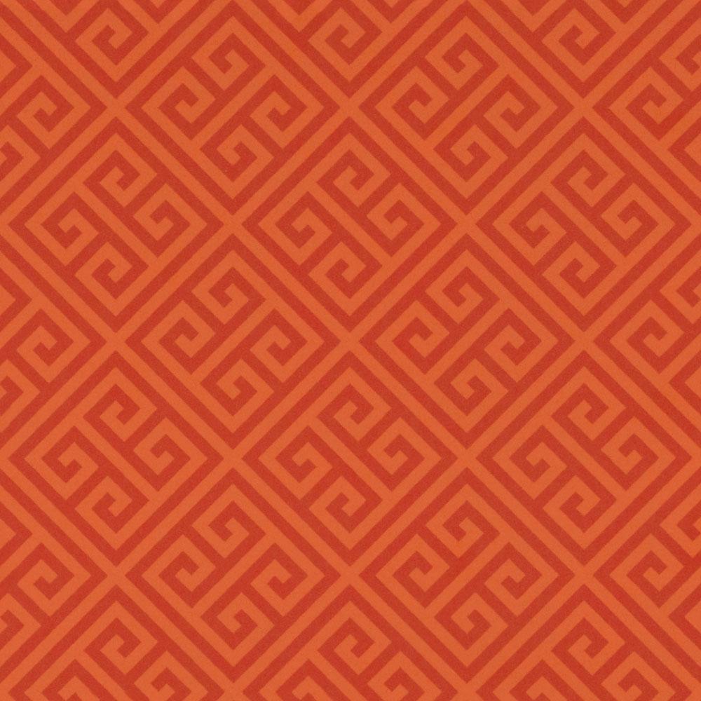 Orange Greek Key