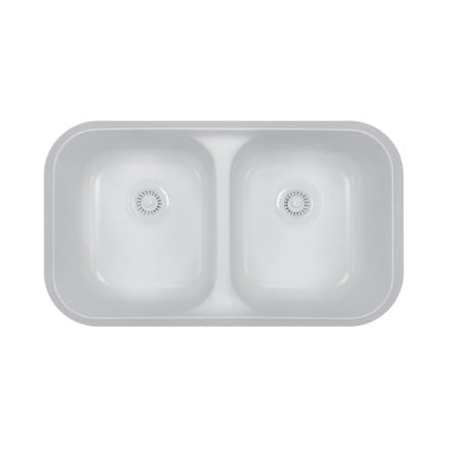 A350 Double Equal Bowl Undermount Sink