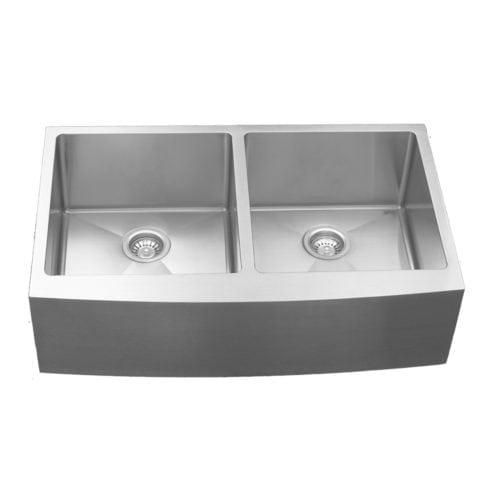 Elite EL-88 Double Equal Undermount Bowl with Apron Sink