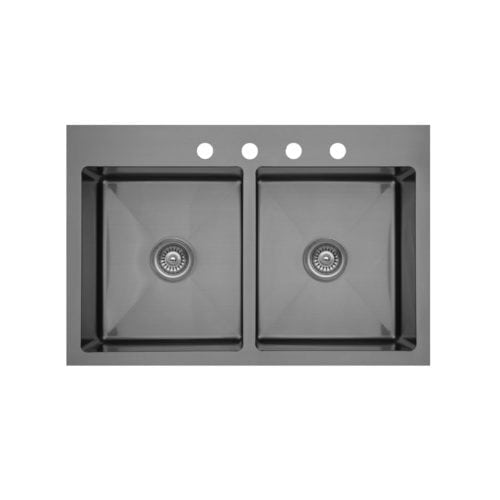 Elite EL-35 Double Equal Top Mount Bowl Sink