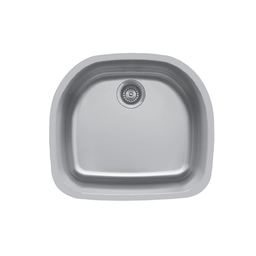 Edge E 330 Undermount D Shaped Single Bowl Sink