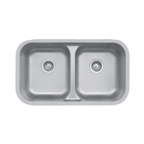 Edge E-350 Undermount Double Equal Bowl Sink