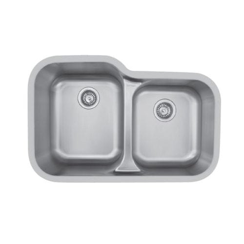 Edge E-360R Undermount Large / Small Double Bowl Sink