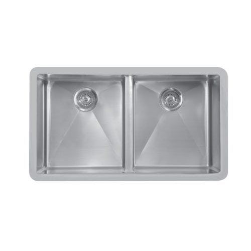 Edge E-550 Undermount Double Equal Bowl Sink