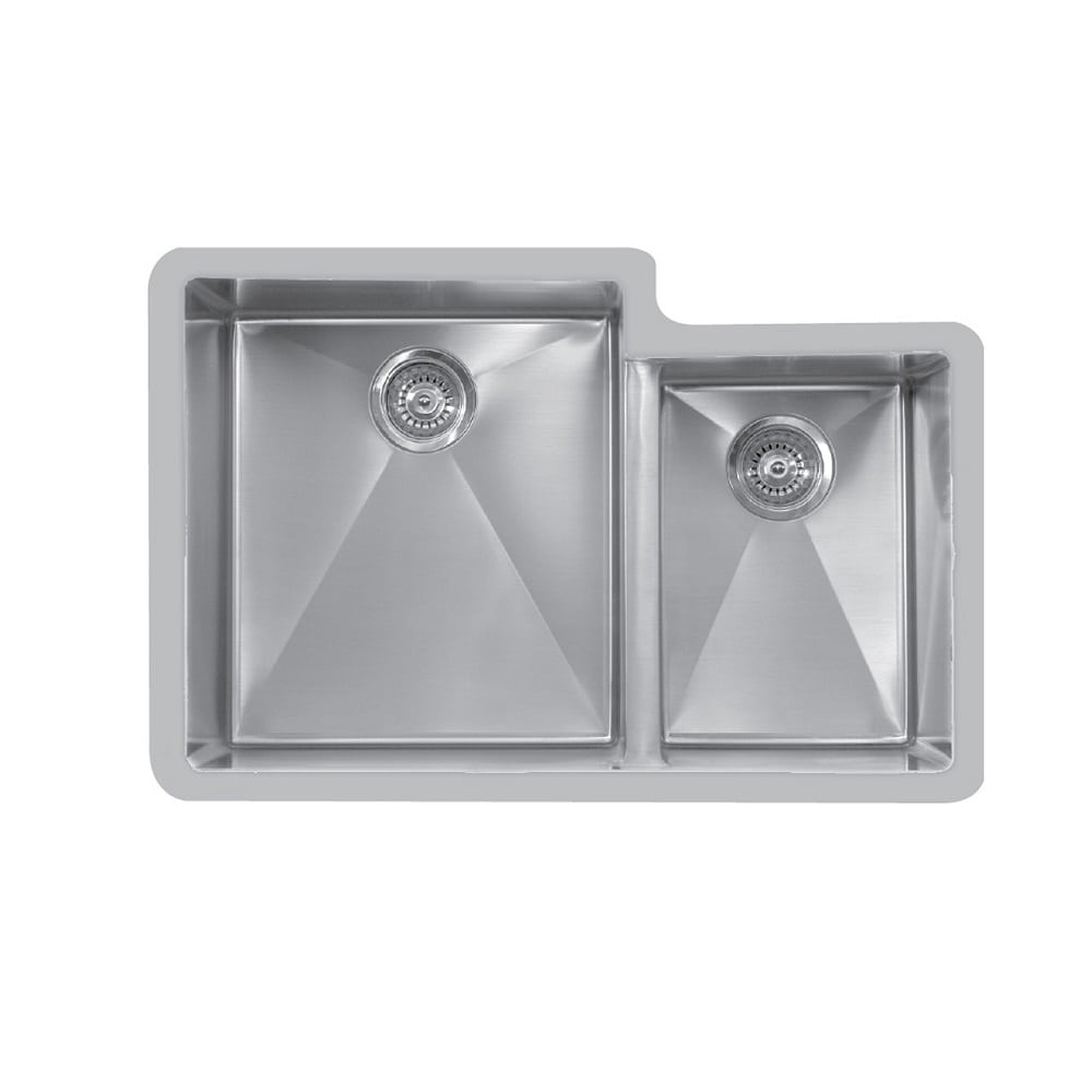 Edge E-560R Undermount Large / Small Double Bowl Stainless Sink