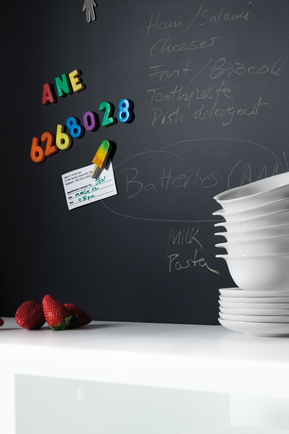 m2253 black magnetic chalkboard 2