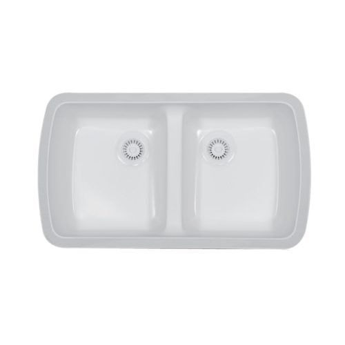 Meridian Double Equal Bowl Undermount Sink