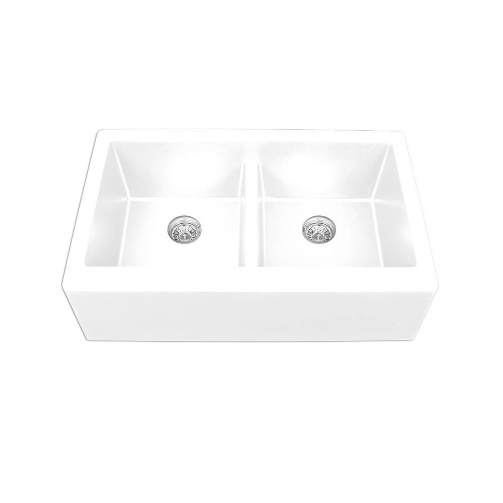 Karran Quartz Sink Qa 750 Undermount Double Equal Bowl W