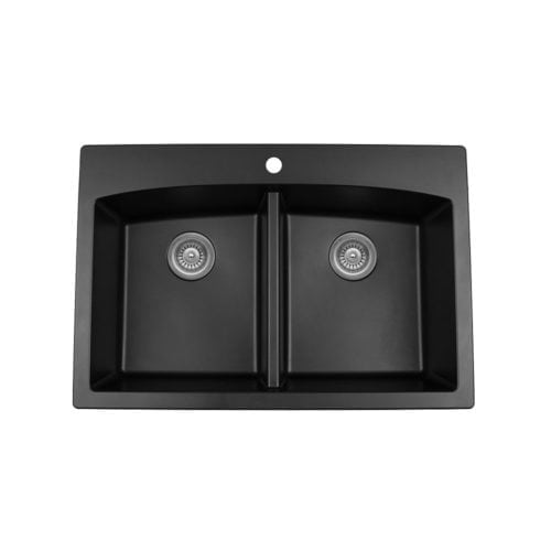 Quartz QT-710 Top Mount Double Equal Bowl