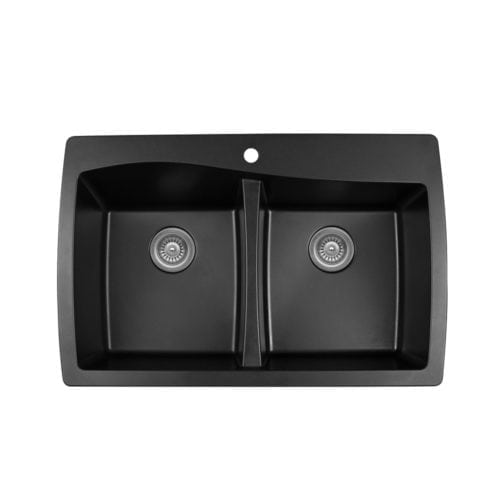 Quartz QT-720 Top Mount Double Equal Bowl
