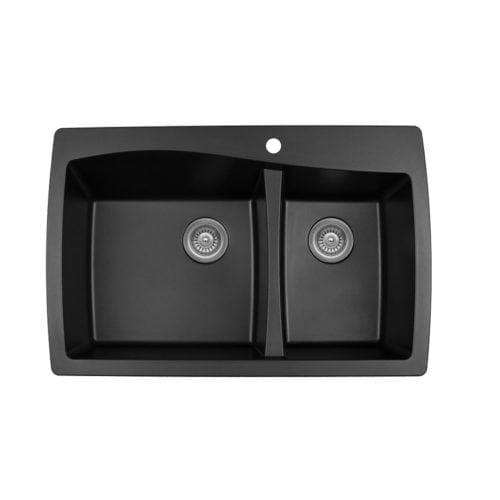 Quartz QT-721 Top Mount Large / Small Bowl