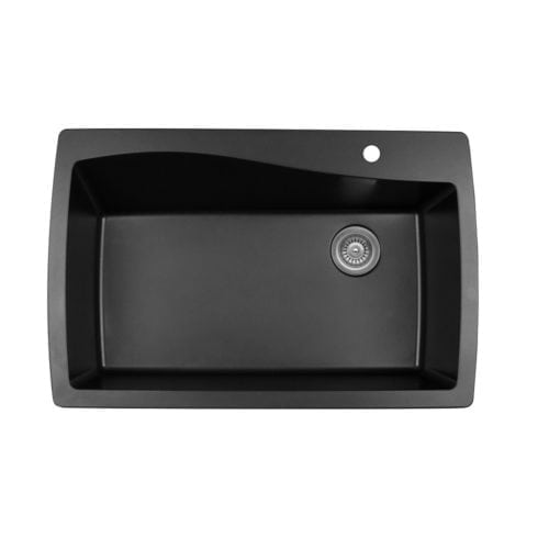 Quartz QT-722 Top Mount Extra Large Single Bowl