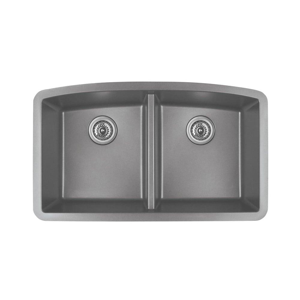 Karran Quartz Sink Qu 710 Undermount Double Equal Bowl