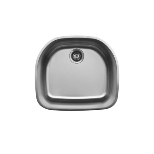 U-2321 Stainless steel D-shaped single bowl sink