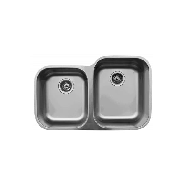 Karran U-6040L Stainless Steel Small/Large Bowl Undermount Sink