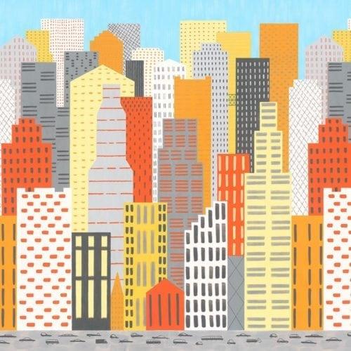 Y0006X Big City Traffic(Landscape) Wilsonart Sheet Laminate