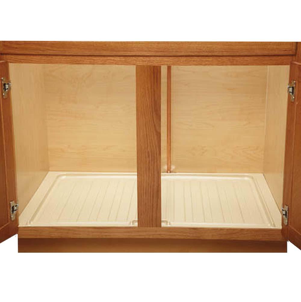 Rev a shelf undersink drip tray cabinetmaker warehouse for Under sink cabinet tray