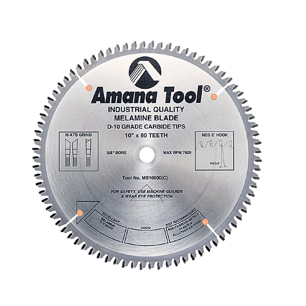 Amana tool melamine saw blades double greentooth Images