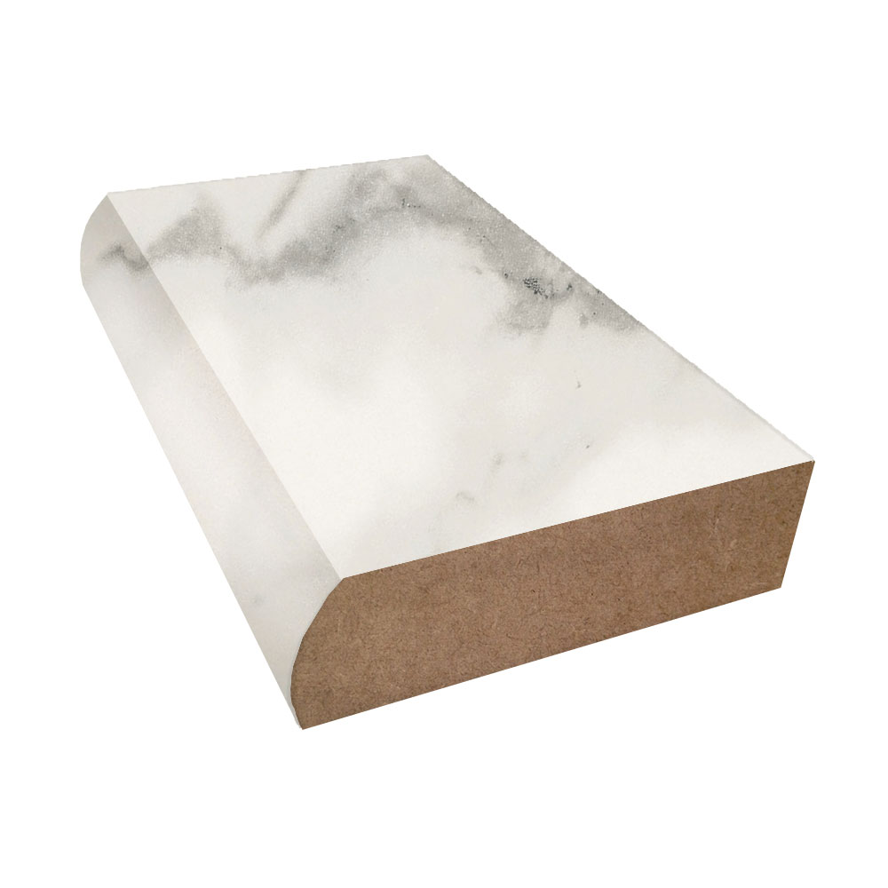 Calacatta Marble Etchings Finish Bevel Edge Laminate Trim
