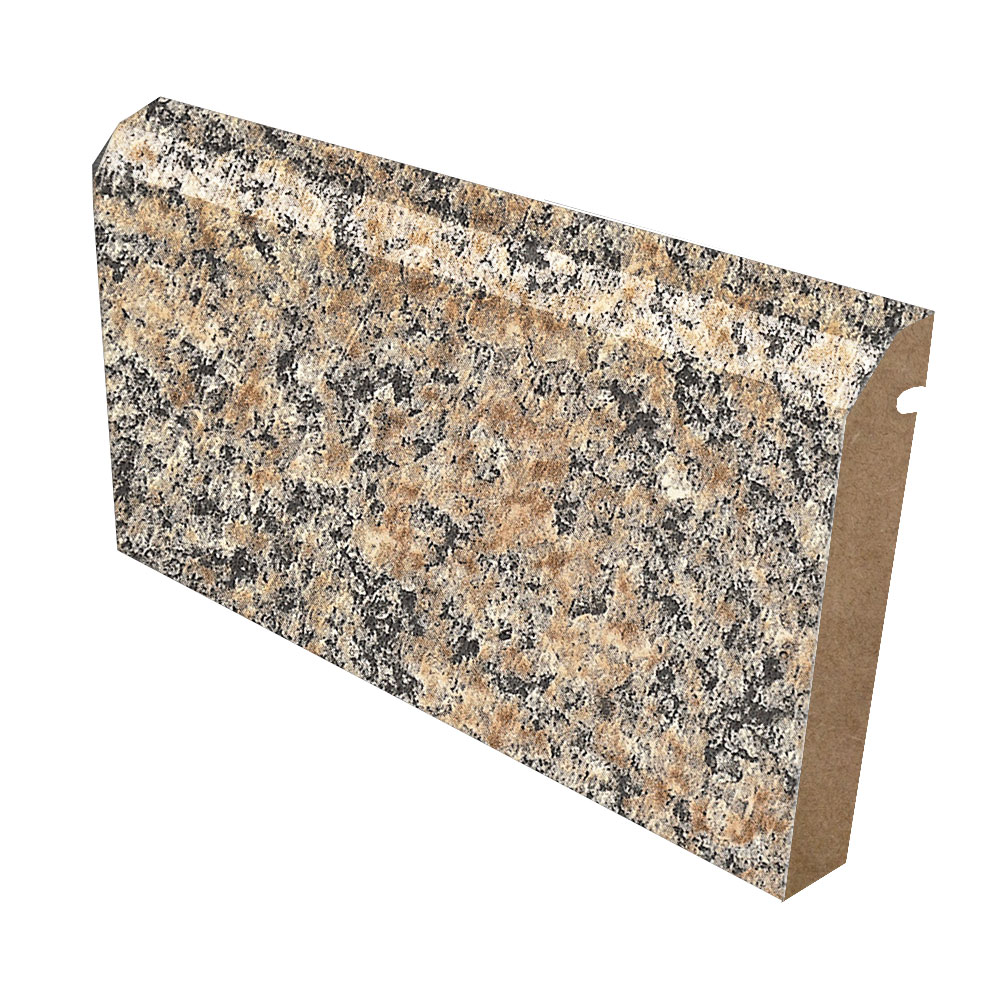 Beveled Backsplash In Formica 6222 Brazilian Brown Granite