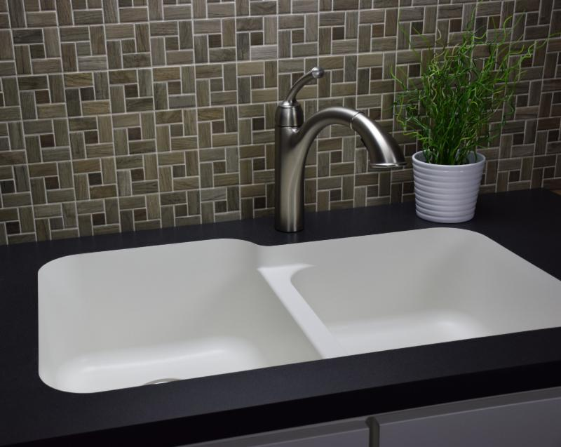 Karran Quartz Q 360r Undermount Large Small Bowl Sink