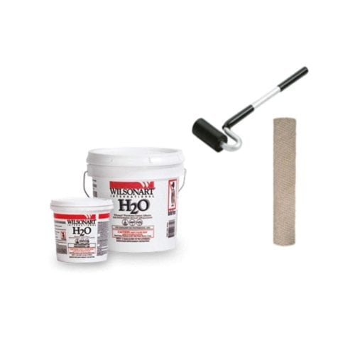 """Laminate Installation Kit features Wilsonart H@O Adhesive, 3"""" J-Roller, 9"""" Cement Roller Cover"""