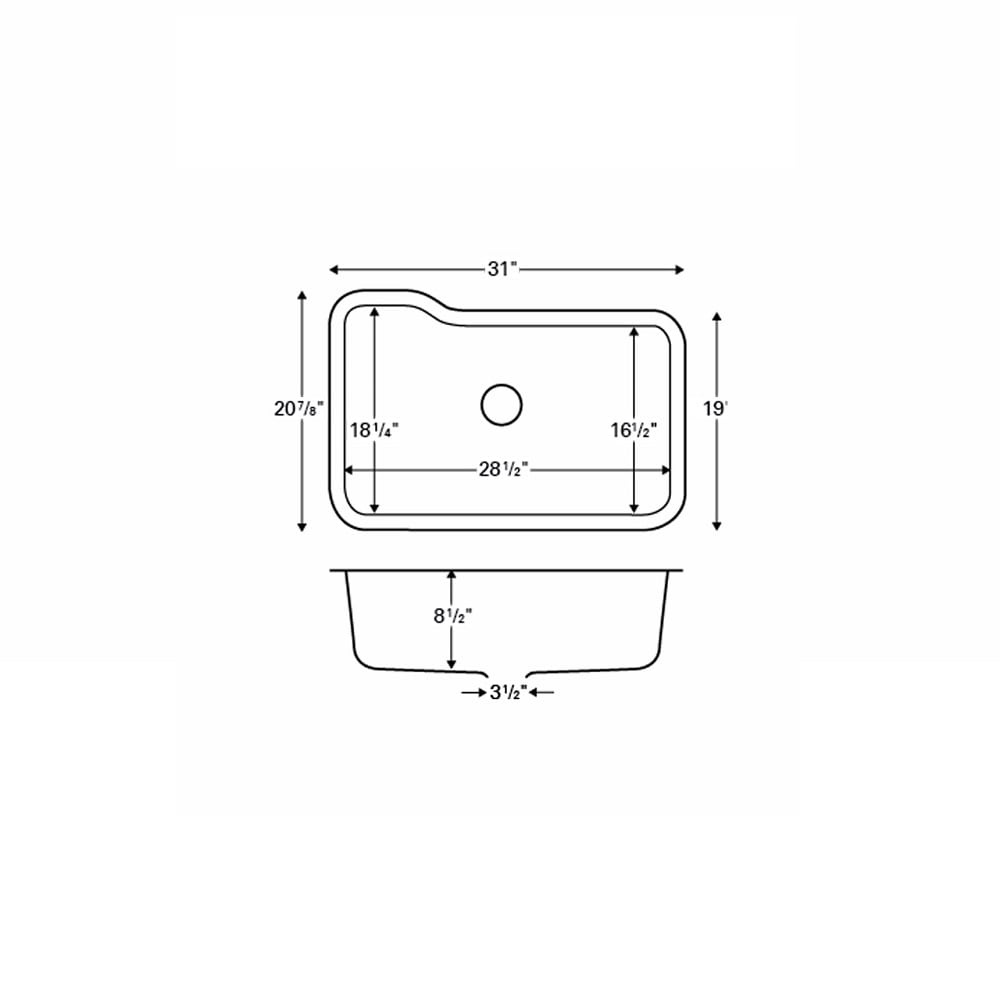 Karran Monaco Extra Large Single Bowl Acrylic Undermount Sink