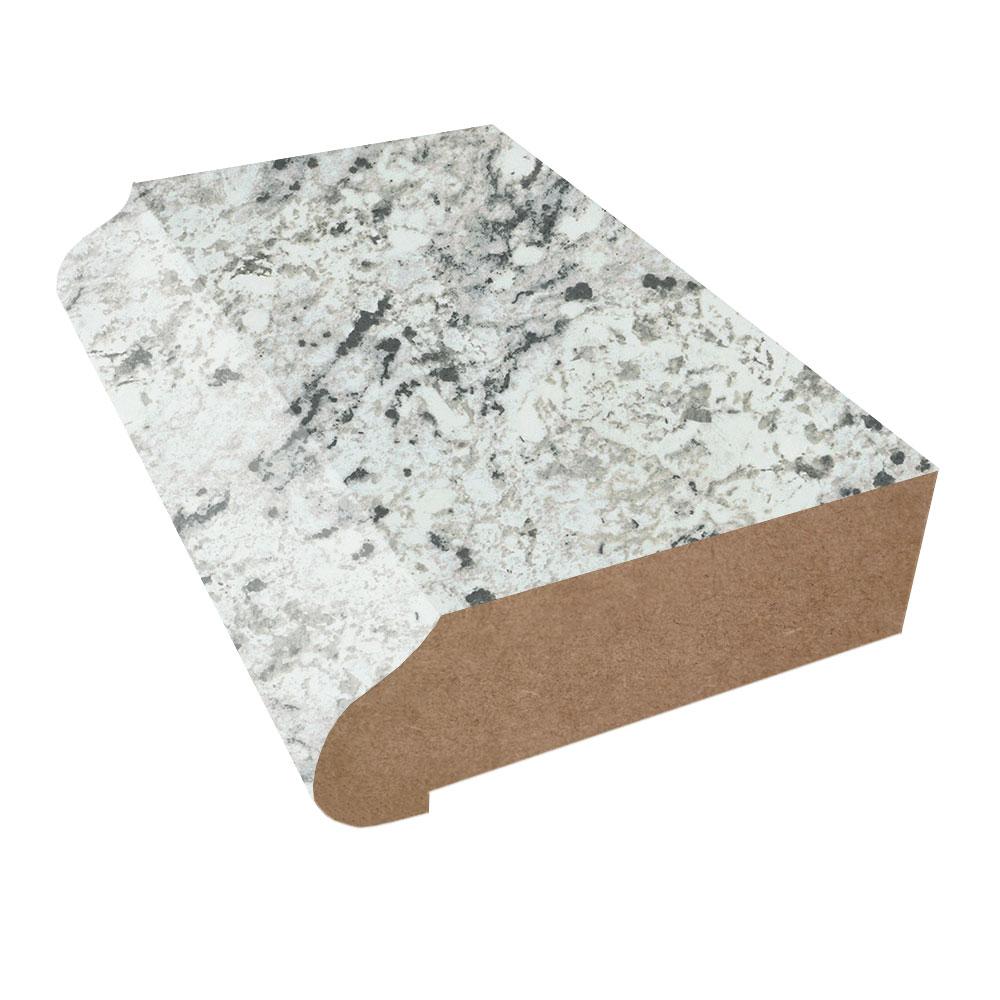 White Ice Granite Ogee Edge Laminate Countertop Trim Matte Finish