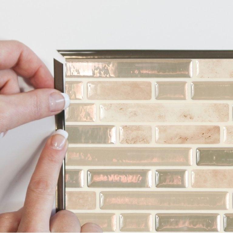 Bellagio Sabbia Smart Tiles Peel & Stick Backsplash