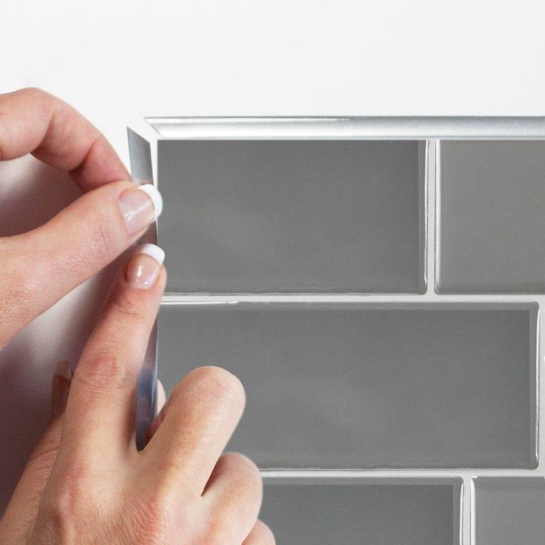 Metro Grigio Smart Tiles Peel & Stick Backsplash