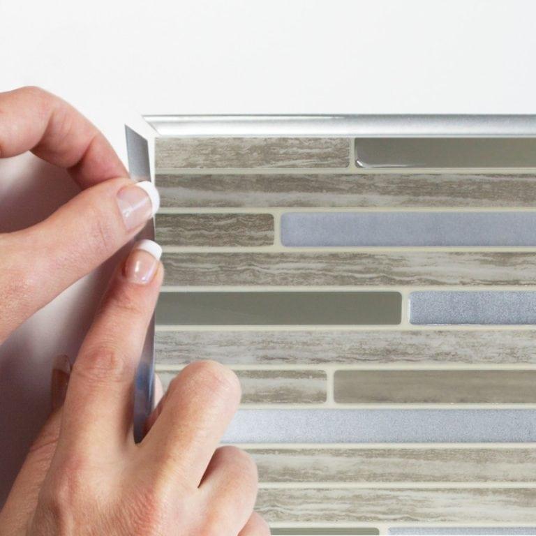 Capri Taupe Smart Tiles Peel & Stick Backsplash