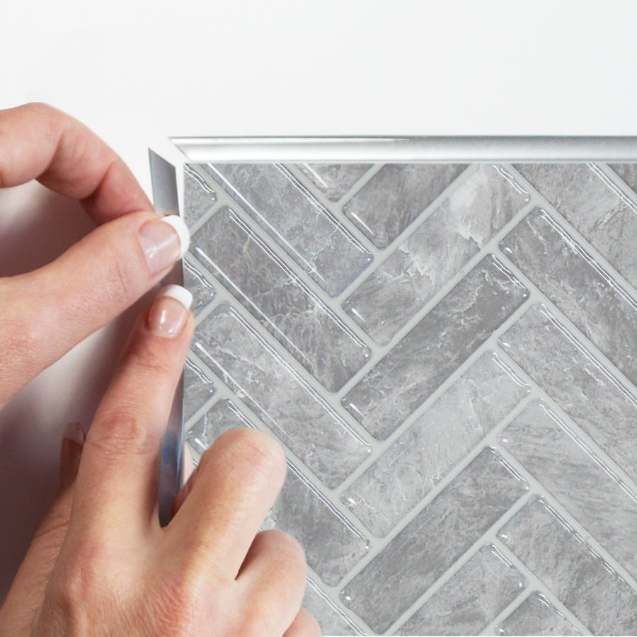 Cortina Grigio Peel Amp Stick Smart Tiles Backsplash