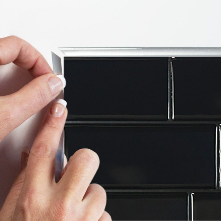 Metro Nero Smart Tiles Peel & Stick Backsplash