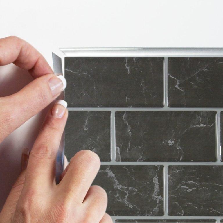 Subway Marbella Smart Tiles Peel & Stick Backsplash