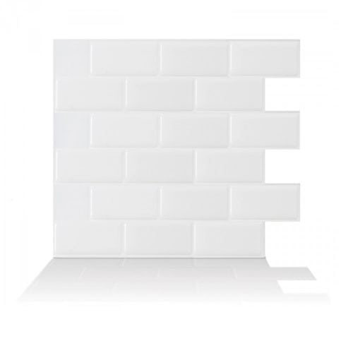 Subway White Peel & Stick Backsplash
