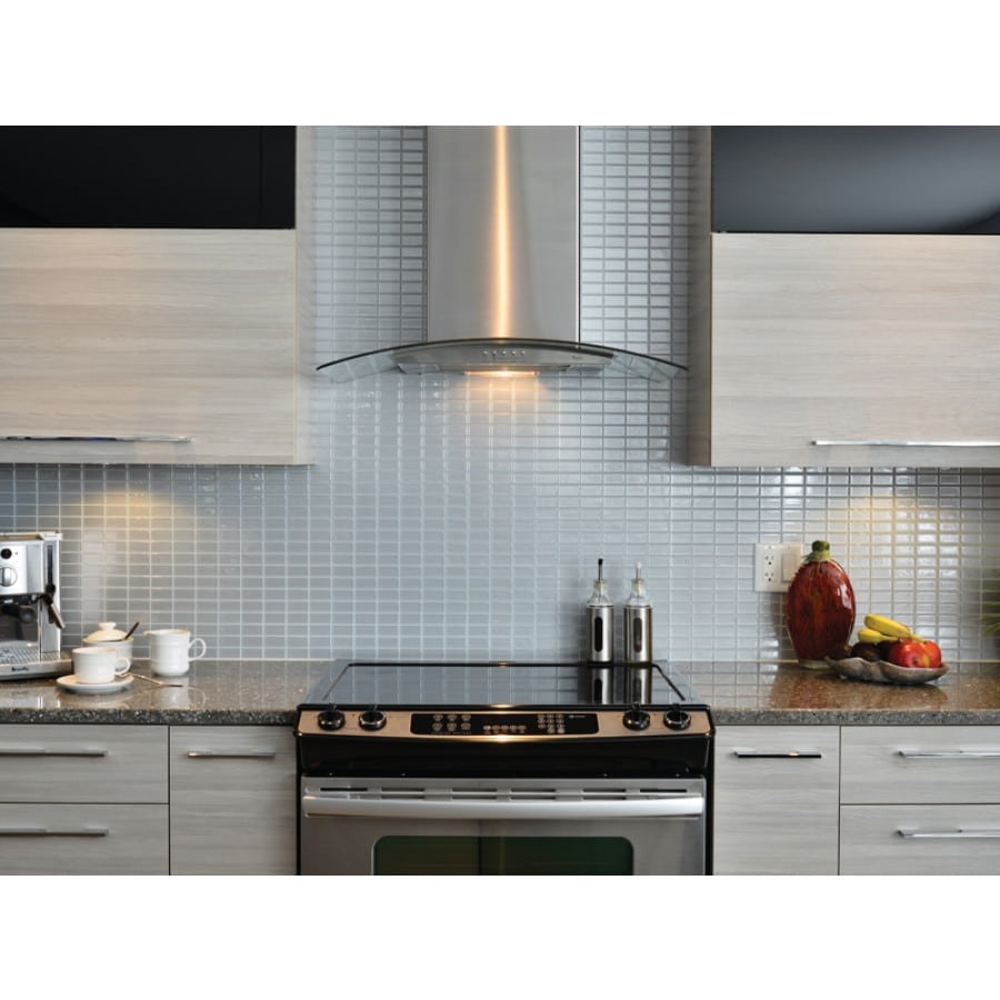 Stainless Peel & Stick Smart Tiles Backsplash