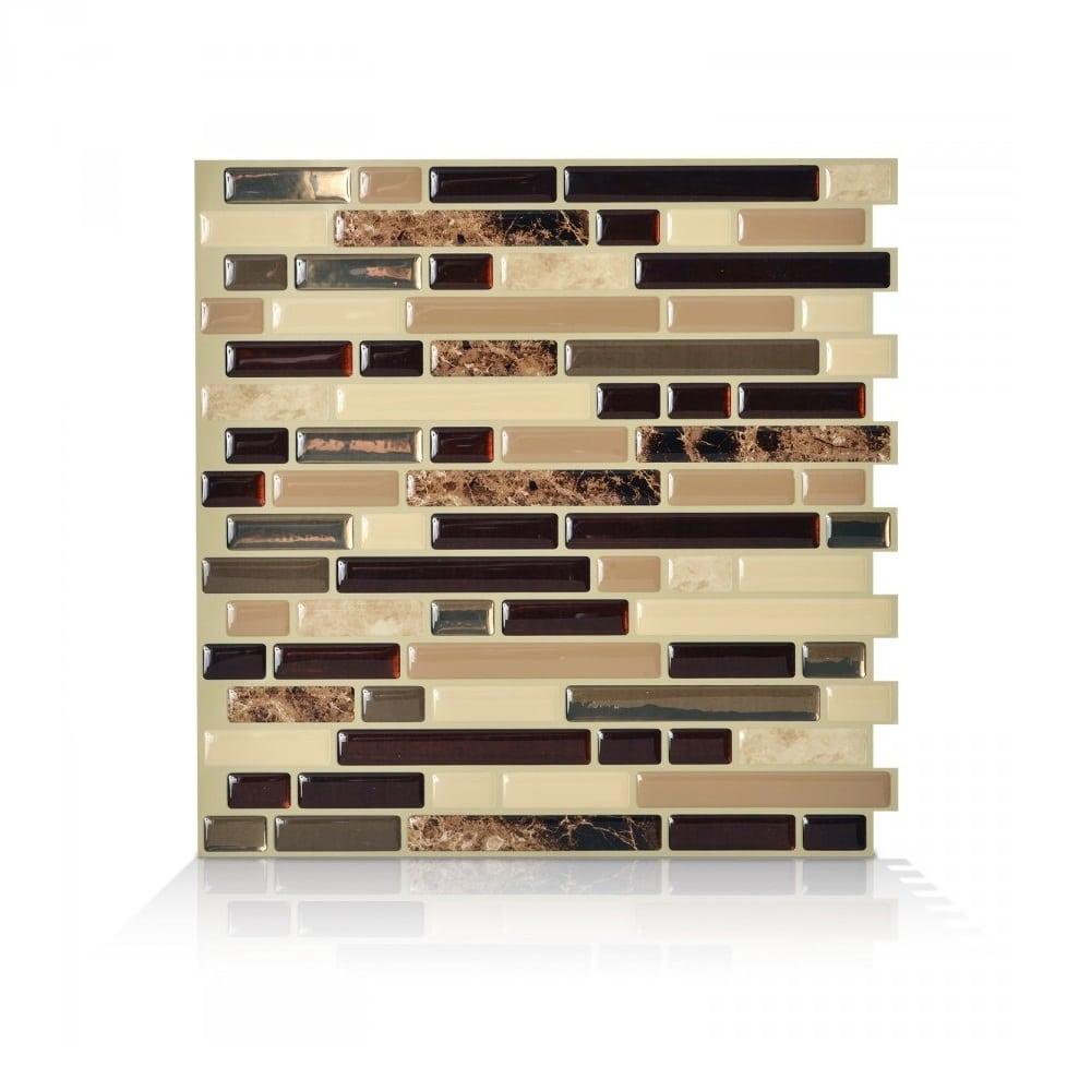 Bellagio Keystone Peel Stick Smart Tiles Backsplash