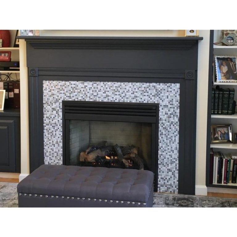 Minimo Noche Smart Tiles Peel & Stick Fireplace Inset