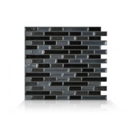 Muretto Nero Smart Tiles Peel & Stick Backsplash