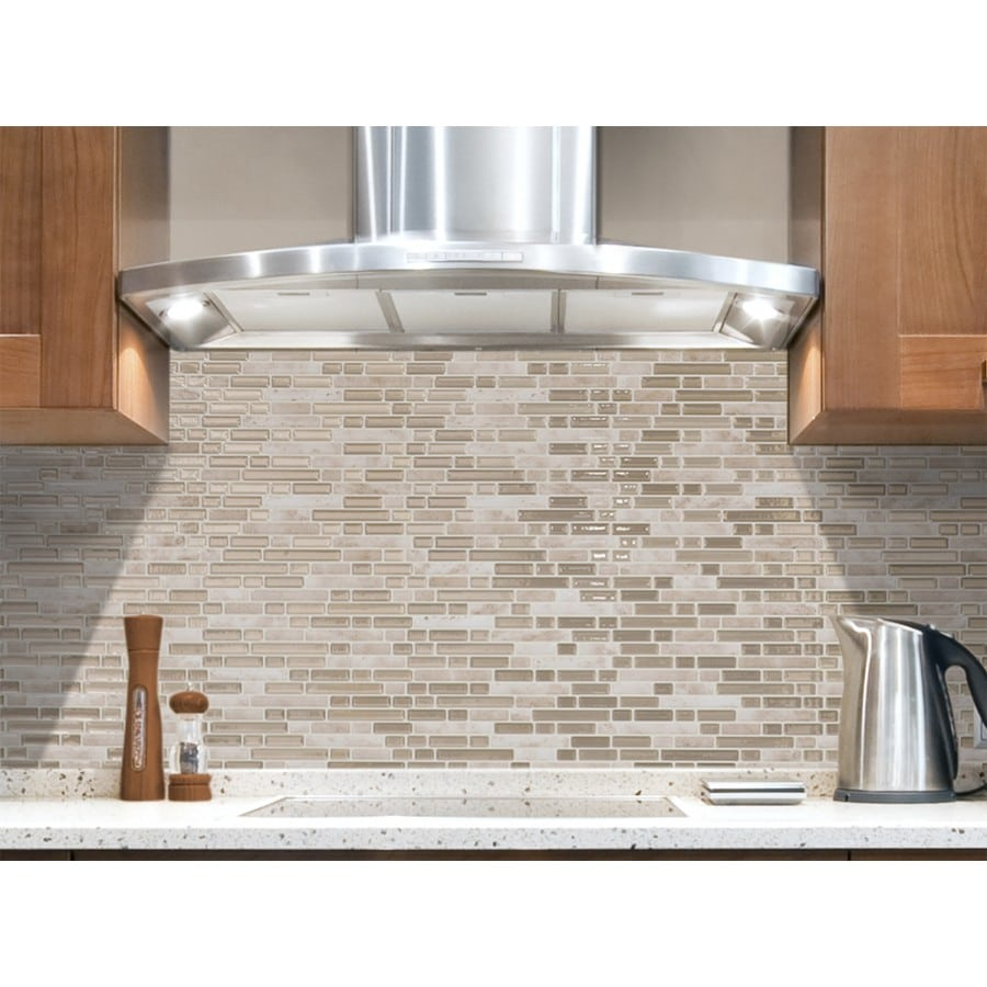 - Bellagio Sabbia Peel & Stick Smart Tiles Backsplash
