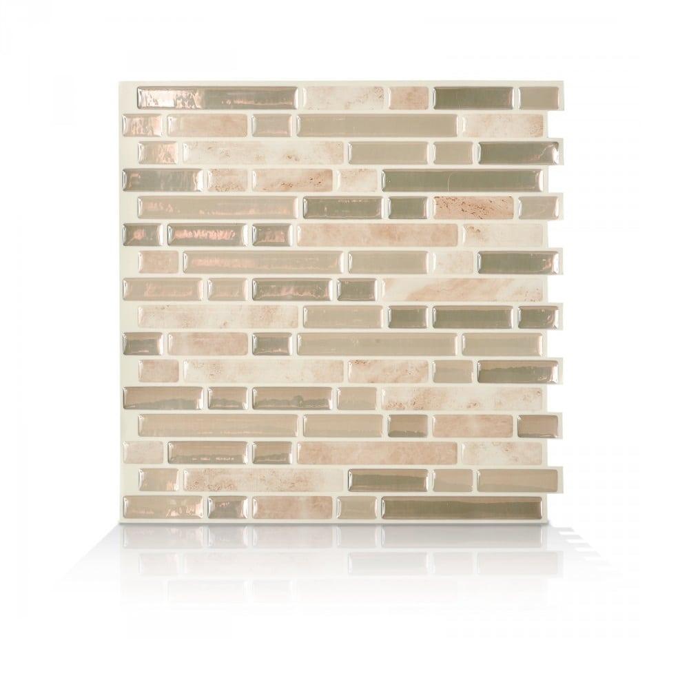 Bellagio Sabbia Peel Stick Smart Tiles Backsplash - Peel-and-stick-backsplash-tile-property