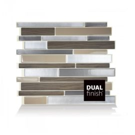 Milano Lino Smart Tiles Peel & Stick Backsplash