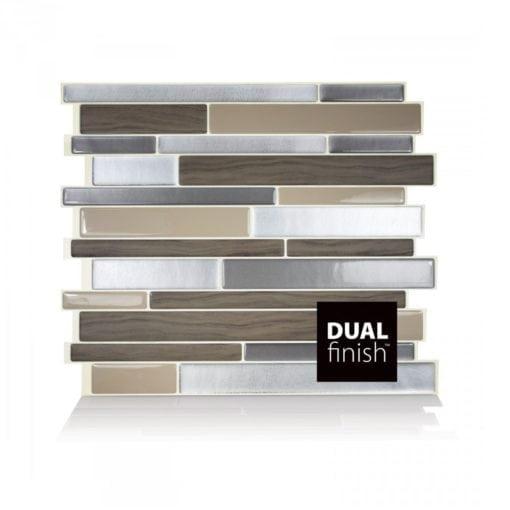 Milano Lino Smart Tiles Peel & Stick Backsplash