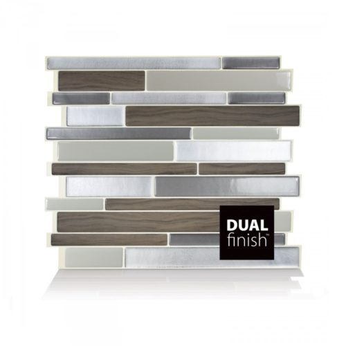 Milano Argento Smart Tiles Peel & Stick Backsplash