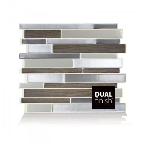 Milano Argento Smart Tiles Peel & Stick Backsplash