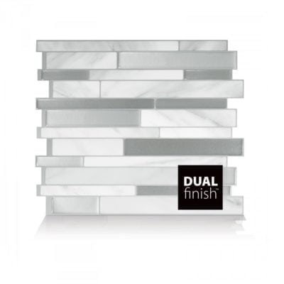 Milano Carrera Smart Tiles Peel & Stick Backsplash